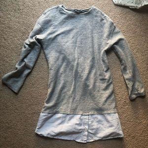 Zara grey tunic/dress size small